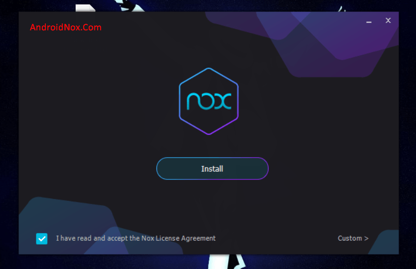 Android Nox App Player install