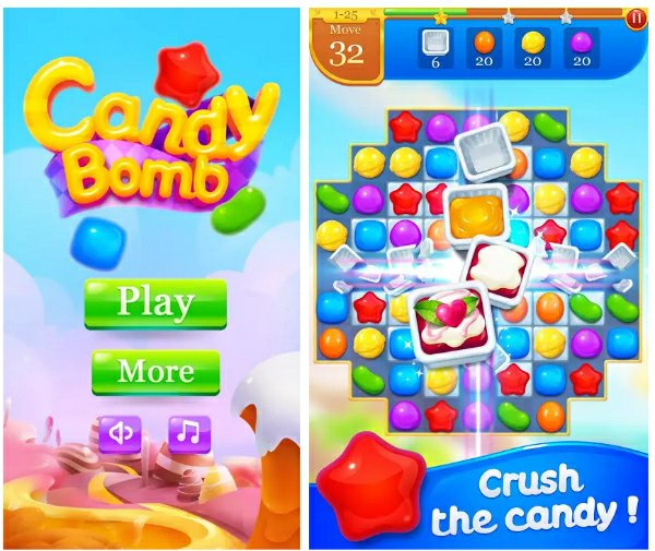 Candy Bomb Games Like Candy Crush saga