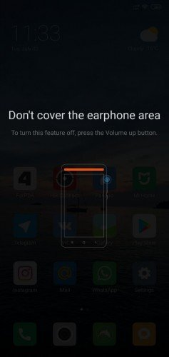Do not cover the headphone area