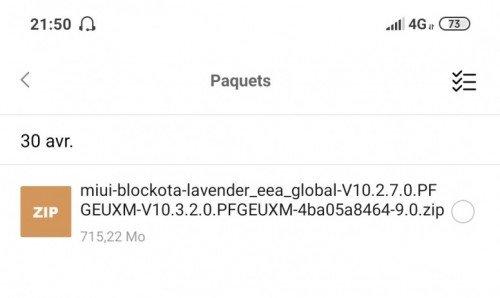 The blockota file on Xiaomi