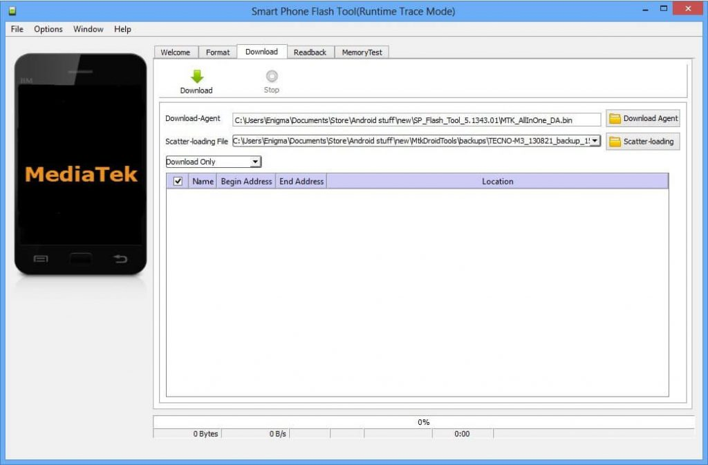 SP Flash Tool Download & How to use Smart Phone Flash Tool 1