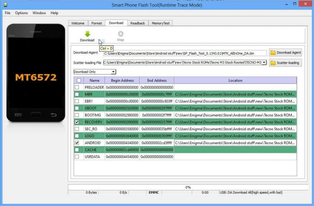 SP Flash Tool Download & How to use Smart Phone Flash Tool 5