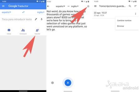 Save Transcription Google Translate