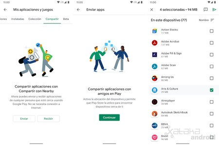 Play Store Compartir Nearby